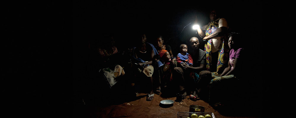 light from photovoltaics - livingston, zambia